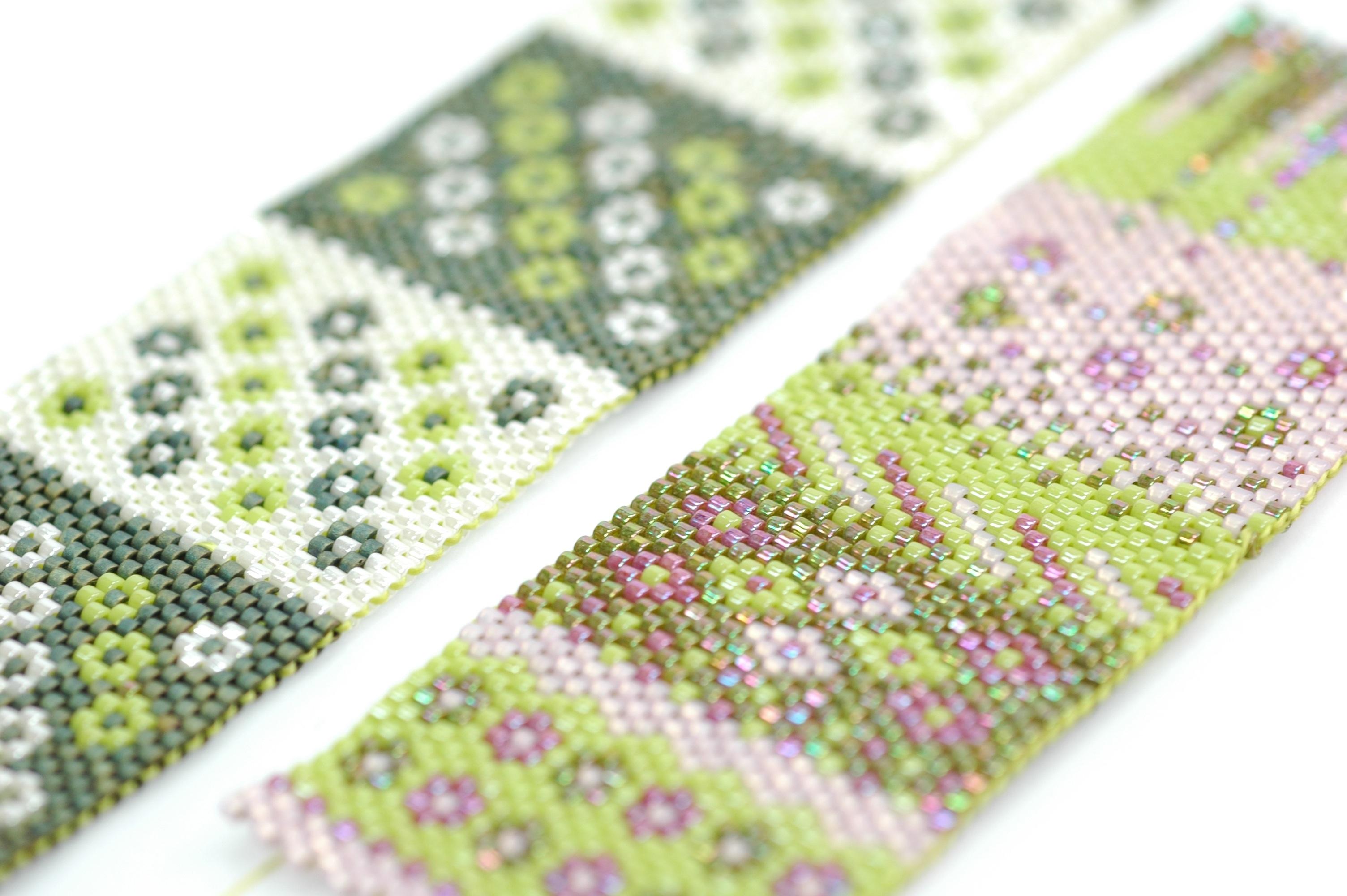Bijoux : tissage en perles de verres miyuki